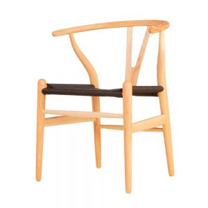 Sill- Wishbone-Natural-Asiento-Negro