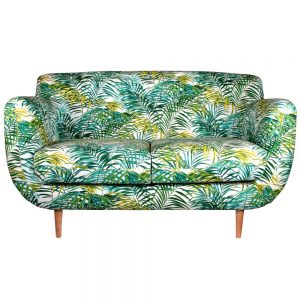 sofa tapizado estilo tropical