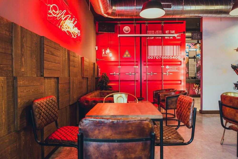 decoracion estilo industrial para restaurante
