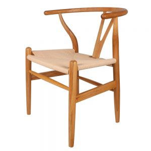 silla wishbone roble natural