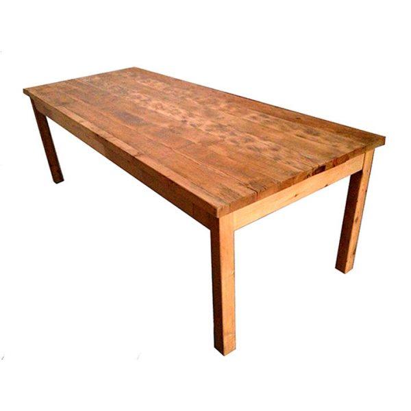 mesa comedor de tablones madera