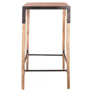 mesa alta industrial para taburetes de bar