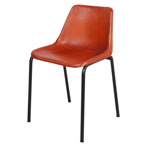 silla estilo industrial tapizada