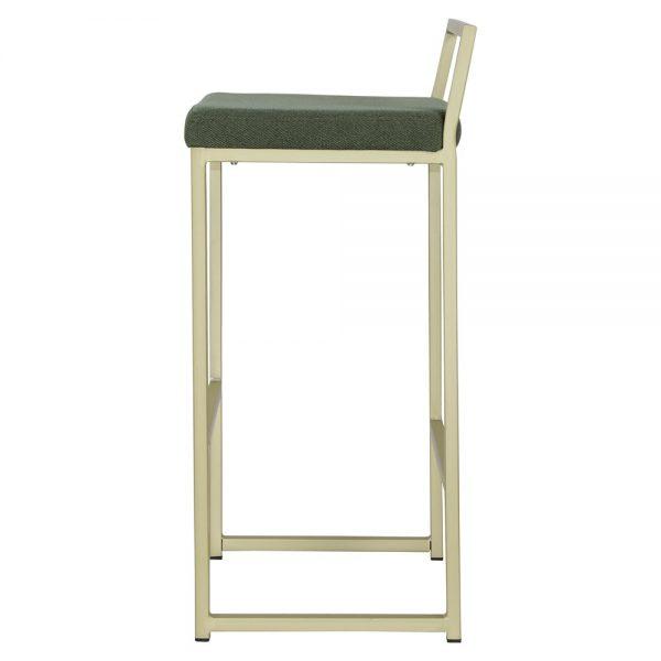 taburete alto metalico asiento tapizado