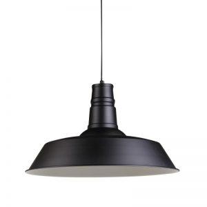 lampara colgante estilo industrial negro