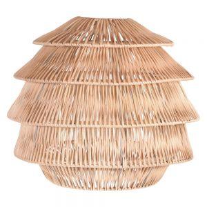 lampara techo de mimbre
