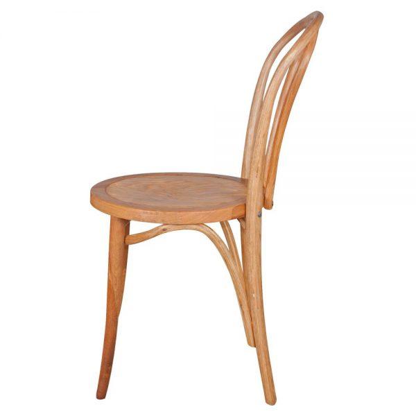 silla madera roble natural