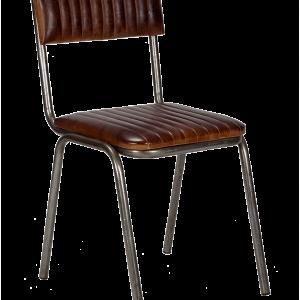 silla industrial tapizada asiento y respaldo cuero