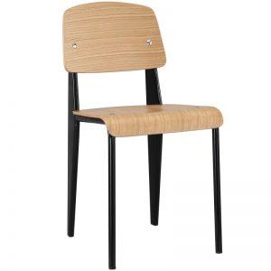 silla estilo nórdico madera y metal