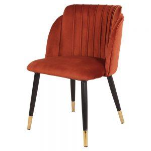 silla terciopelo caldera patas negras y dorado