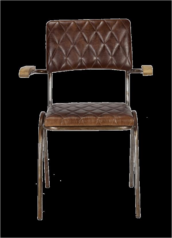 silla tapizada en cuero con costuras