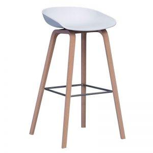 taburete madera con asiento de madera