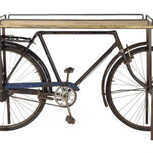estantería tipo bici madera y metal estilo industrial