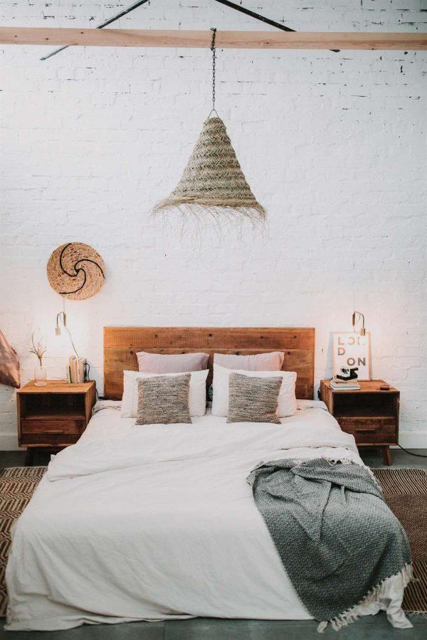 decoración dormitorio estilo rústico industrial