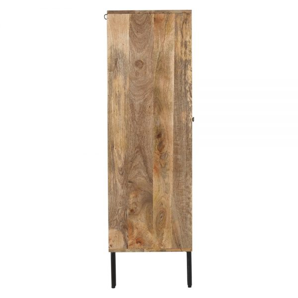 mueble bar de madera estilo nórdico con patas negras