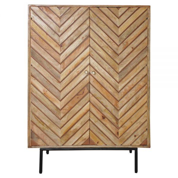 mueble bar estilo nórdico con puertas de diseño
