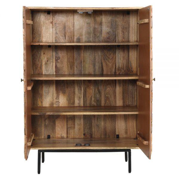 mueble bar de madera estilo nórdico