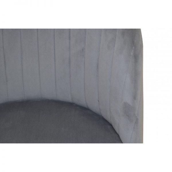 silla asiento tapizado gris