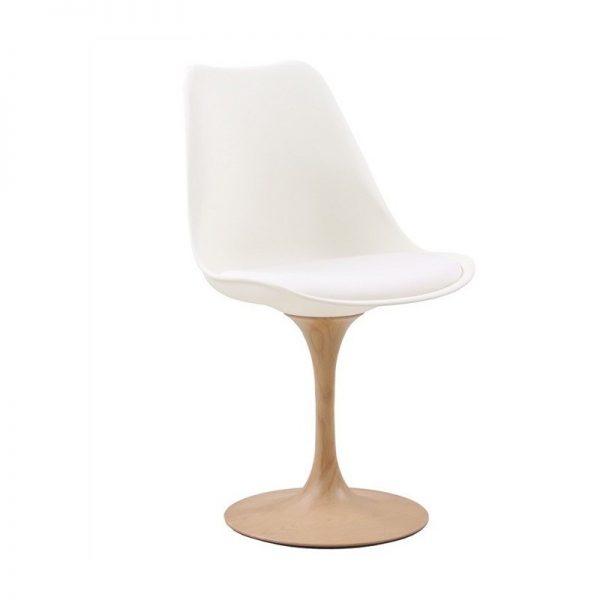 silla diseño nordica blanca madera