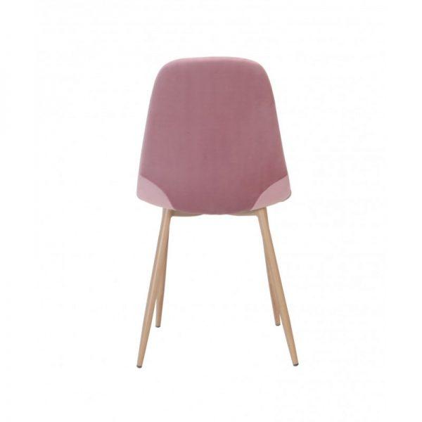 silla asiento tapizado terciopelo rosa