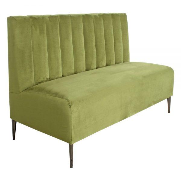 banco tapizado terciopelo verde