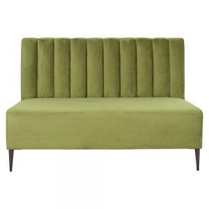 banco corrido tapizado verde