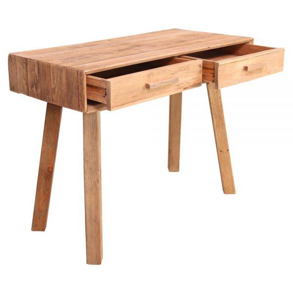 consola recibidor de madera con cajones