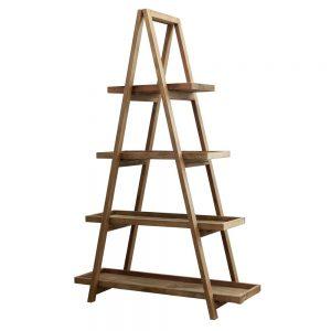estanteria escalera madera con estantes