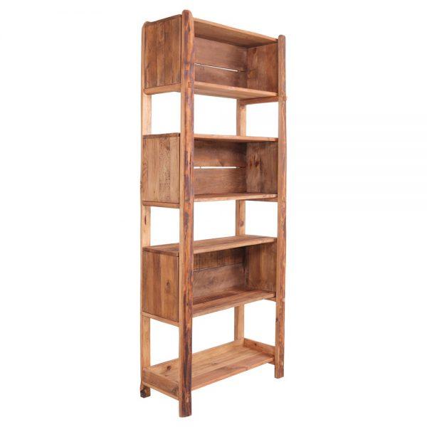 estantería alta de madera maciza