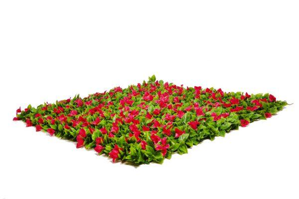 jardín vertical con flores
