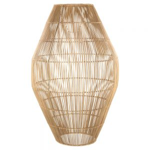lampara techo grande rattan natural