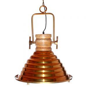 lámpara techo industrial dorada