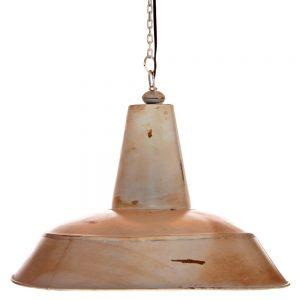 lámpara industrial techo blanco envejecido
