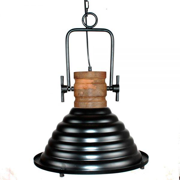 lámpara industrial colgante negra