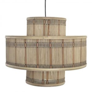 lámpara techo rattan natural