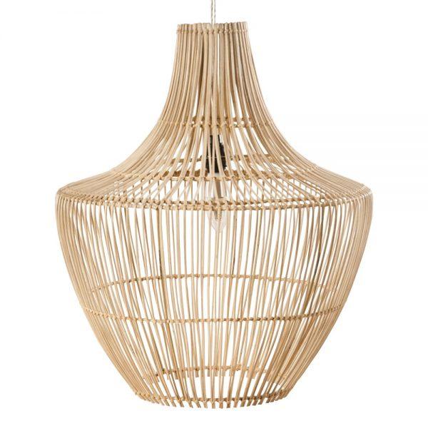 lámpara de techo colgante en rattan natural