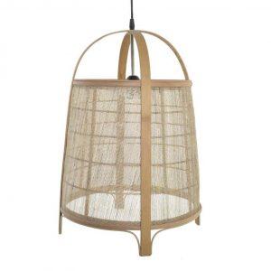 lámpara colgante en rattan natural