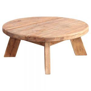 mesa centro redonda madera natural