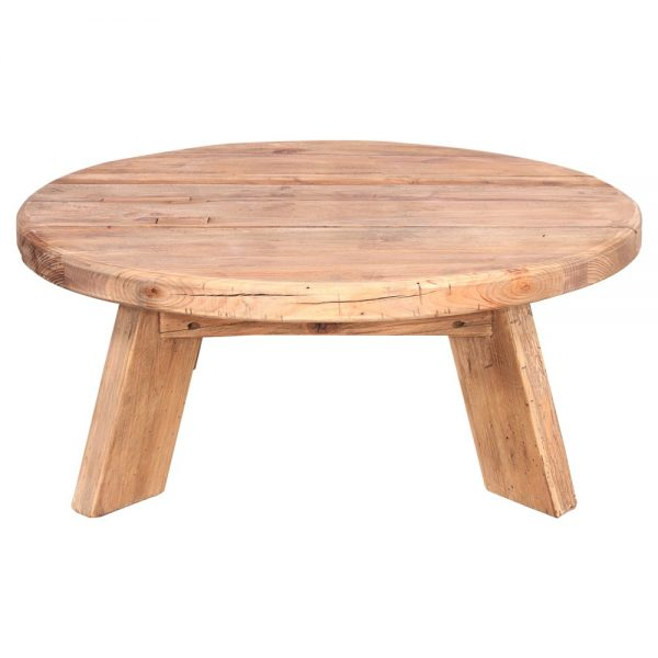 mesa centro madera maciza natural