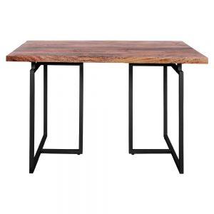 mesa escritorio tapa madera y metal