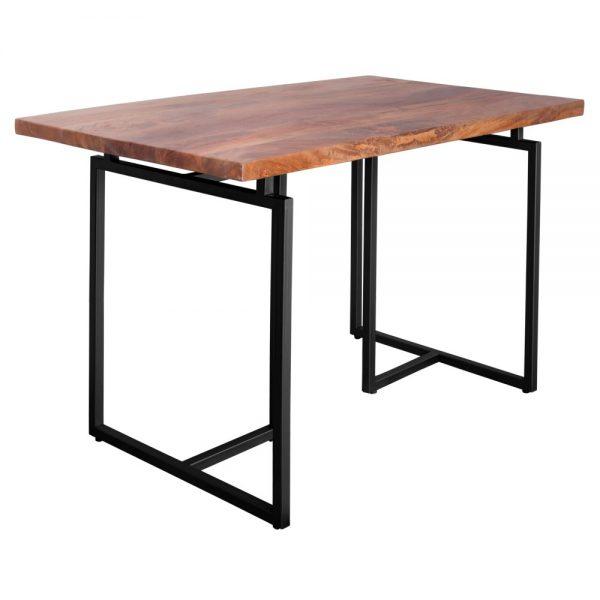 mesa escritorio madera y metal negro