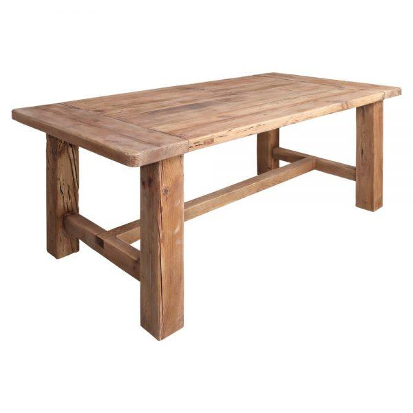 mesa comedor madera rustica color natural