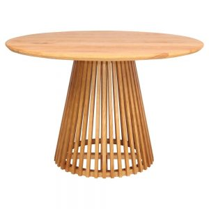 mesa redonda comedor madera estilo nórdico