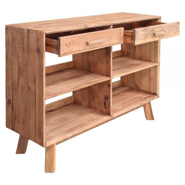 mueble con cajones y estantes para cubiertos