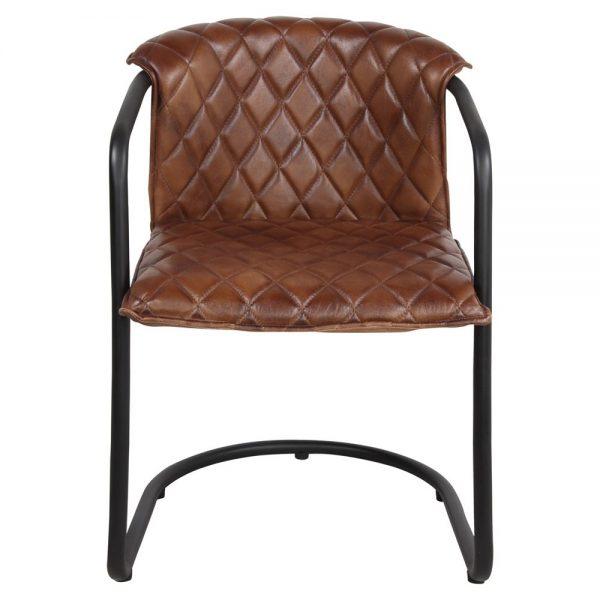 silla tapizada piel estilo industrial