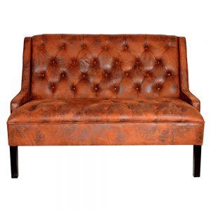 sofá tapizado textil tipo cuero viejo capitone