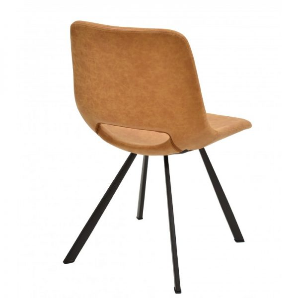 silla asiento tapizado polipiel marrón claro