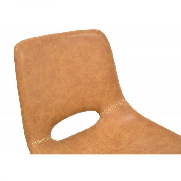 asiento tapizado polipiel marrón claro