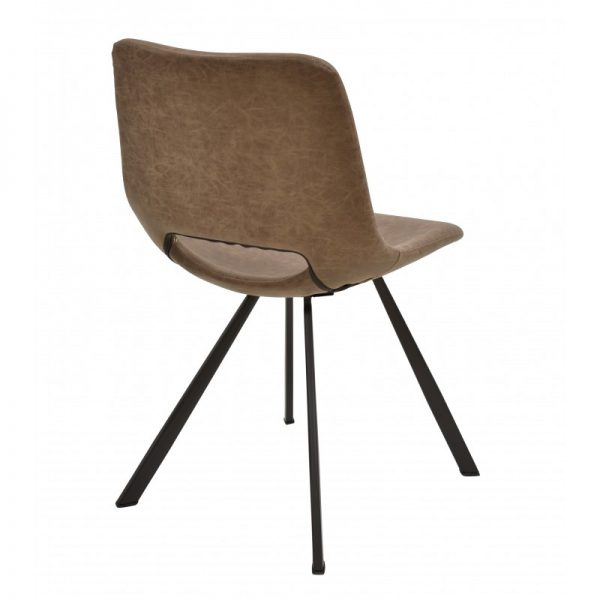 silla para mesa comedor polipiel marrón