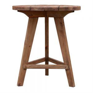 mesa bar madera rustica con tres patas